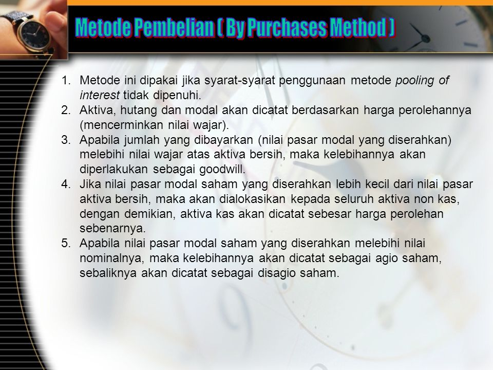 Metode Pembelian ( By Purchases Method )