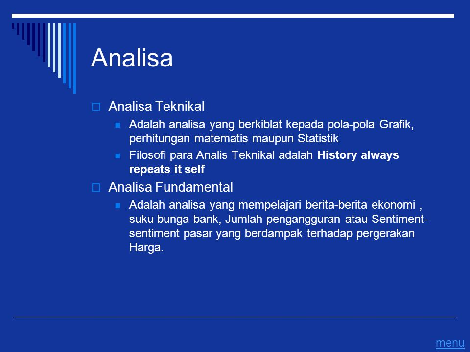 Analisa Analisa Teknikal Analisa Fundamental