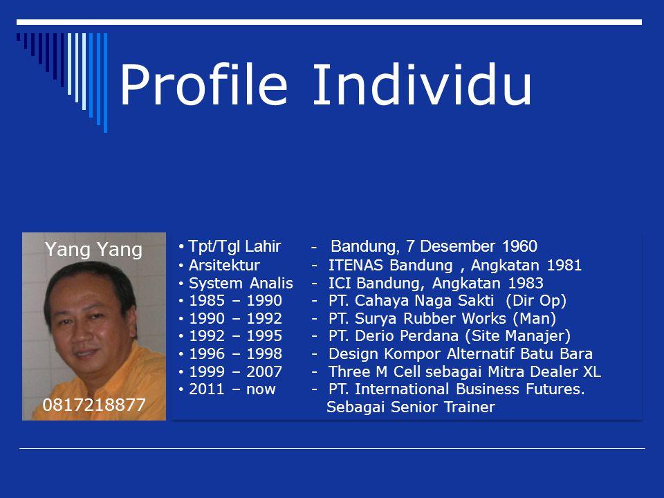 Profile Individu Yang Yang Tpt/Tgl Lahir - Bandung, 7 Desember 1960