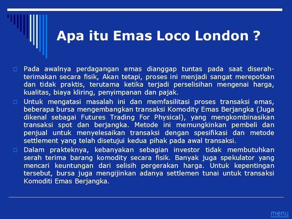 Apa itu Emas Loco London