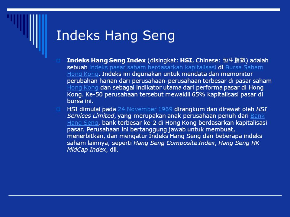 Indeks Hang Seng