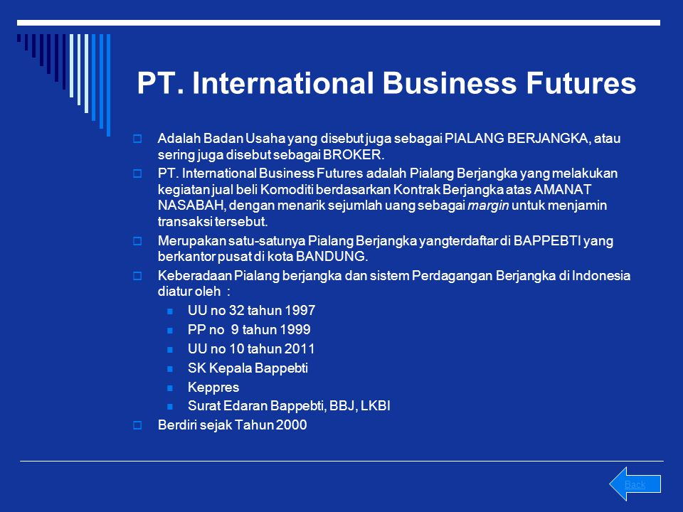PT. International Business Futures