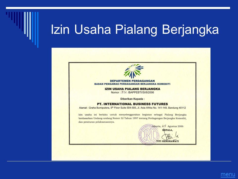 Izin Usaha Pialang Berjangka