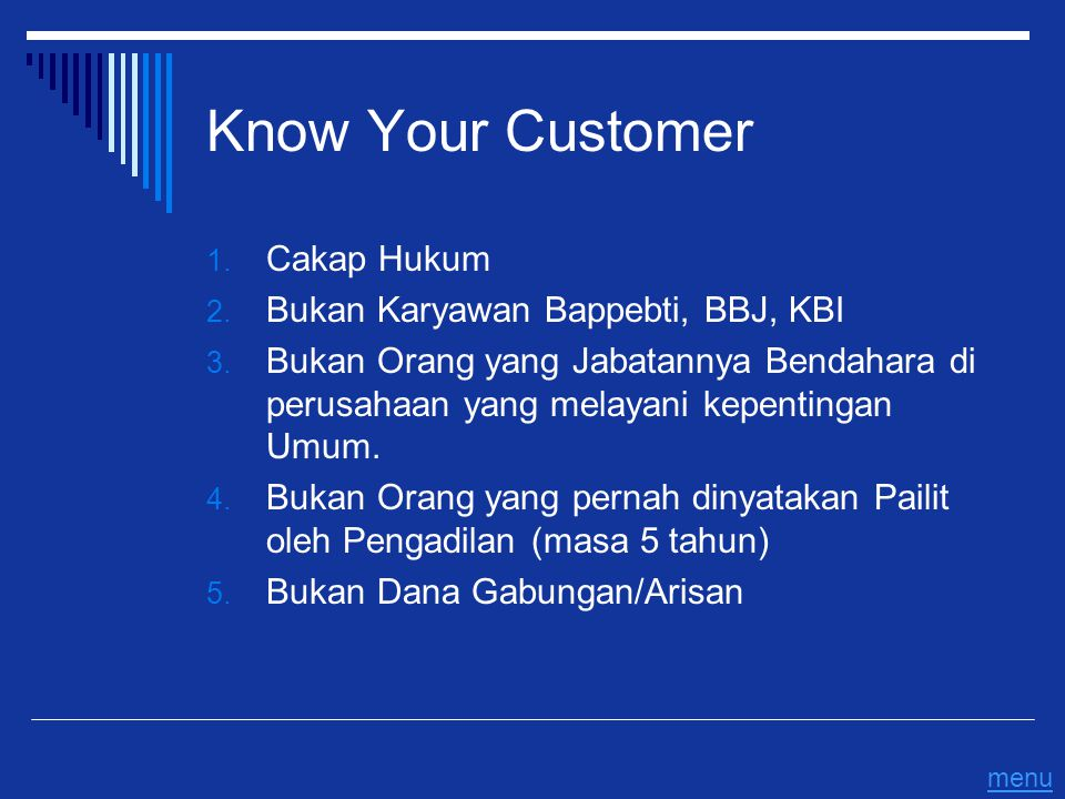 Know Your Customer Cakap Hukum Bukan Karyawan Bappebti, BBJ, KBI