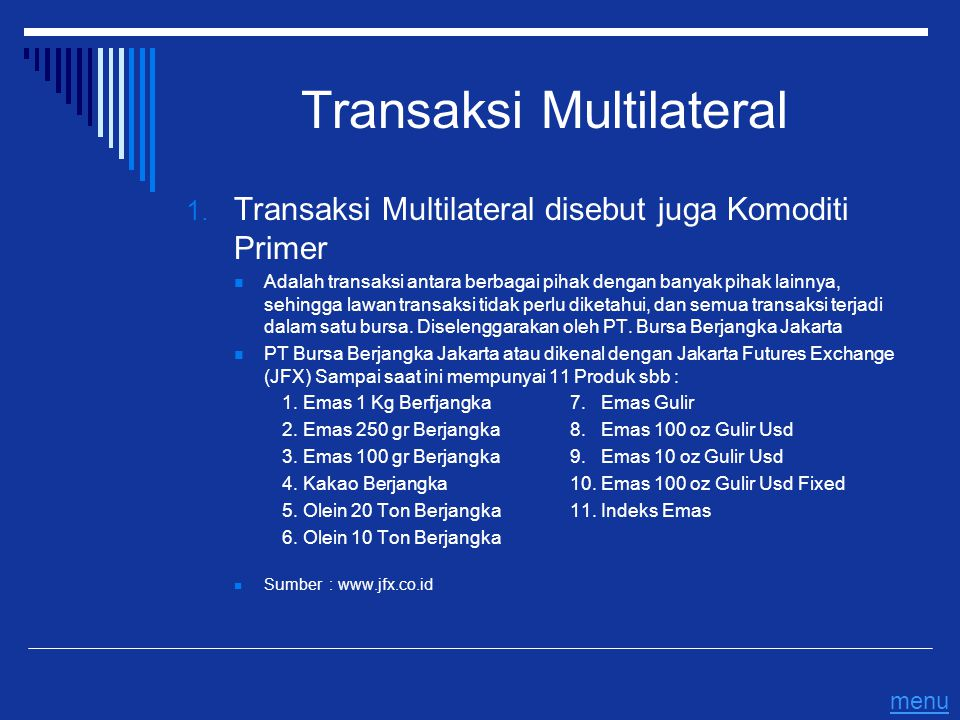 Transaksi Multilateral