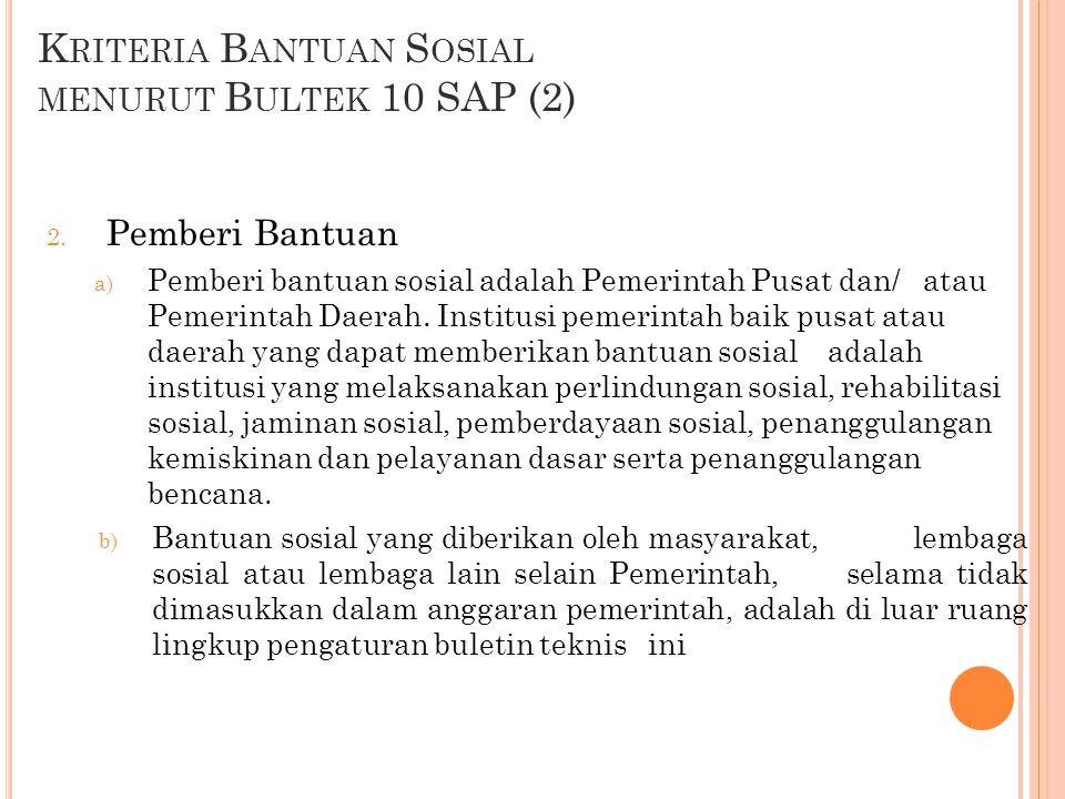 Kriteria Bantuan Sosial menurut Bultek 10 SAP (2)