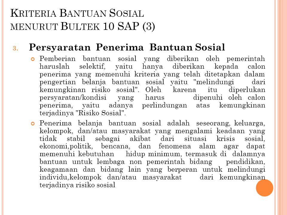 Kriteria Bantuan Sosial menurut Bultek 10 SAP (3)