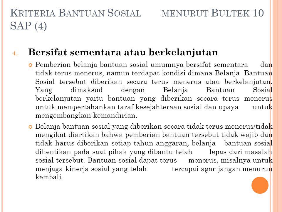 Kriteria Bantuan Sosial menurut Bultek 10 SAP (4)