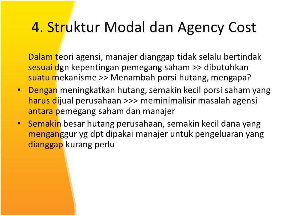 4. Struktur Modal dan Agency Cost