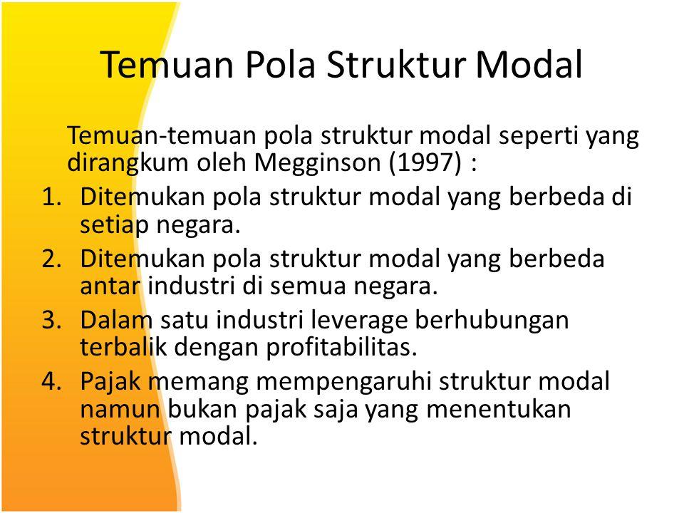 Temuan Pola Struktur Modal