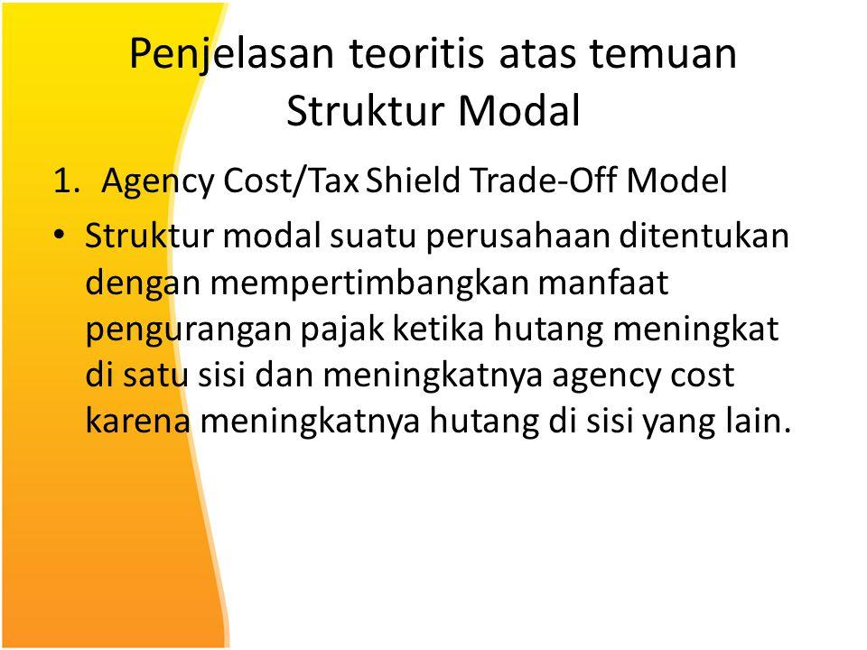 Penjelasan teoritis atas temuan Struktur Modal