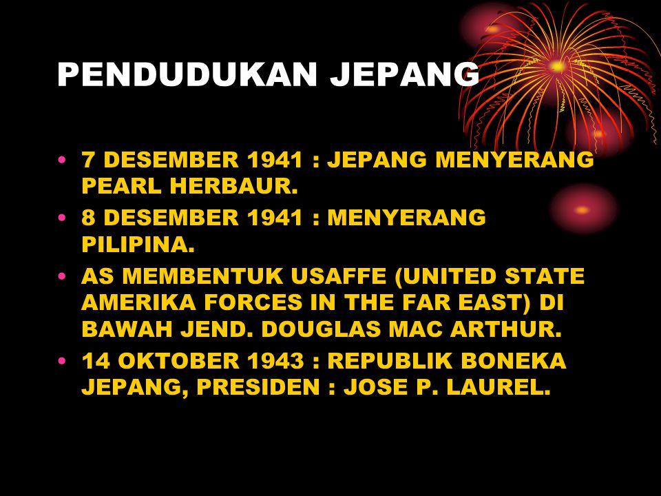 PENDUDUKAN JEPANG 7 DESEMBER 1941 : JEPANG MENYERANG PEARL HERBAUR.