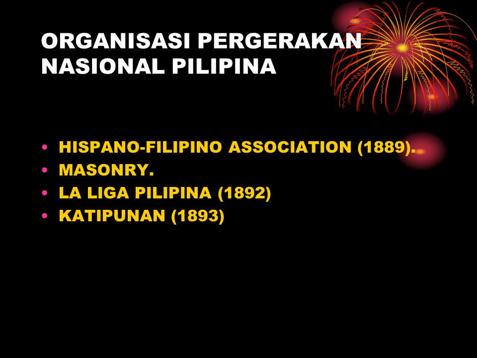 ORGANISASI PERGERAKAN NASIONAL PILIPINA