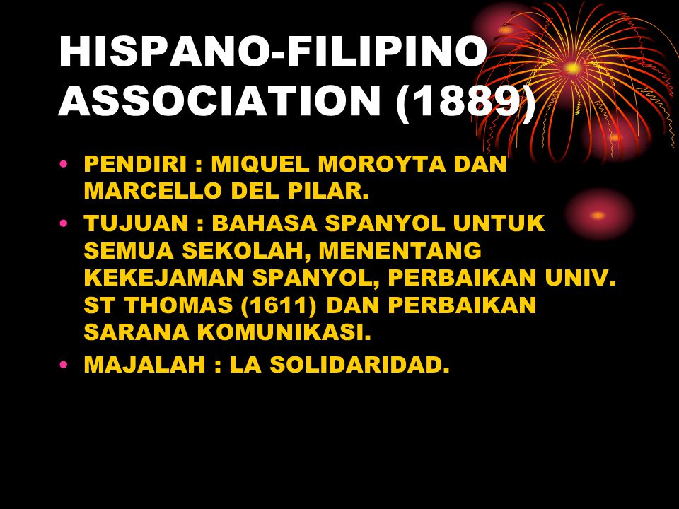 HISPANO-FILIPINO ASSOCIATION (1889)