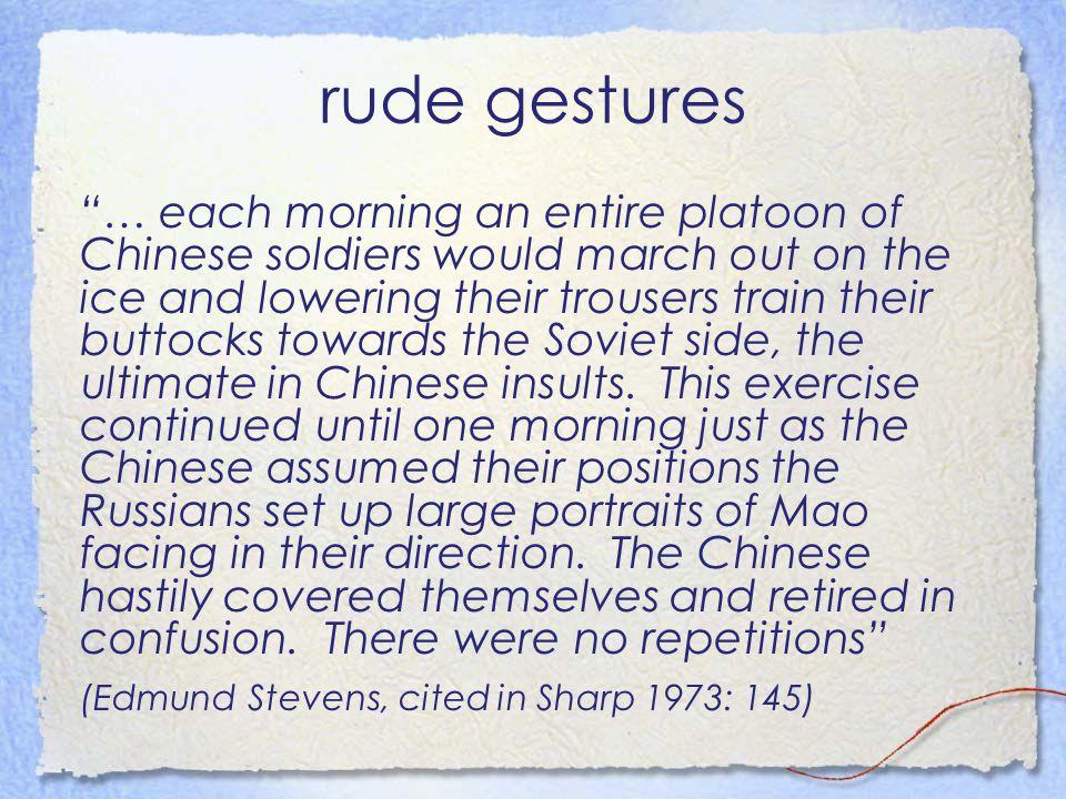 rude gestures