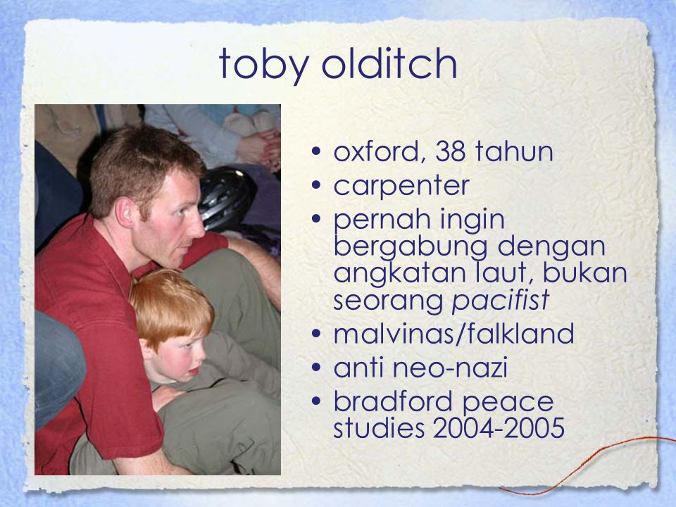 toby olditch oxford, 38 tahun carpenter