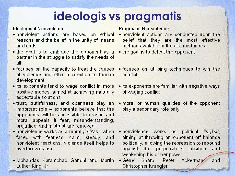 ideologis vs pragmatis