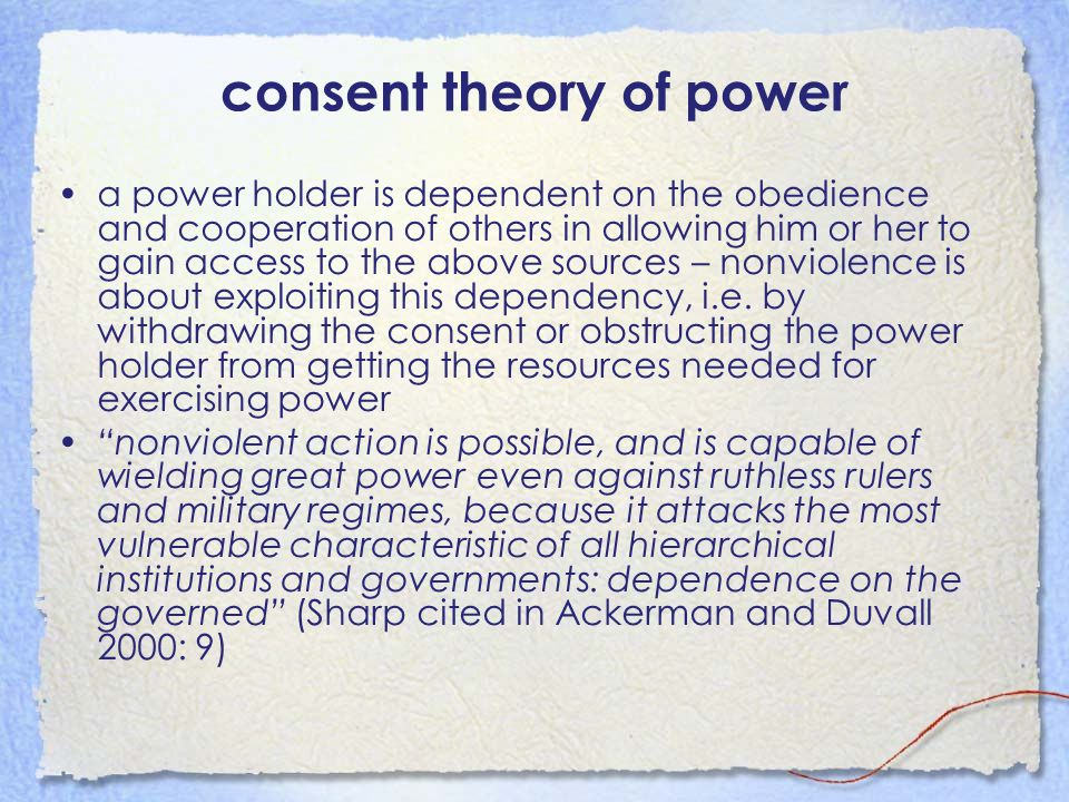 consent theory of power