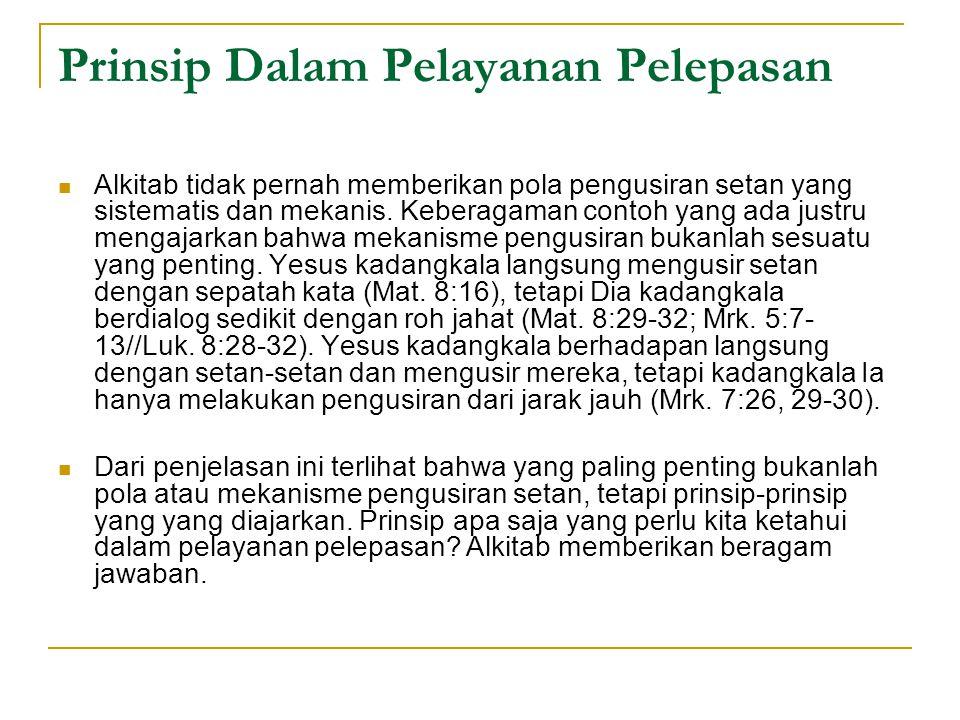 Prinsip Dalam Pelayanan Pelepasan
