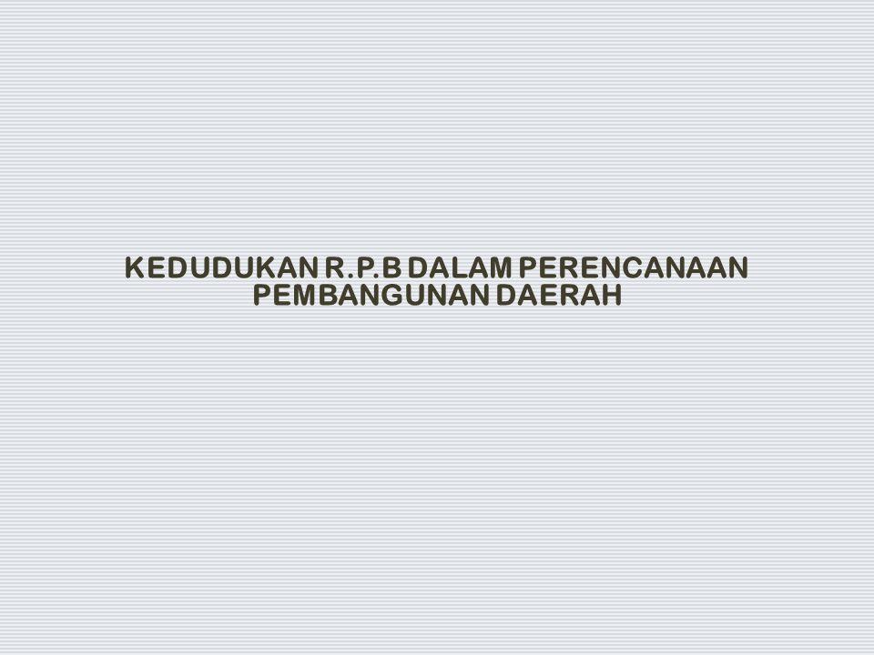 KEDUDUKAN R.P.B DALAM PERENCANAAN PEMBANGUNAN DAERAH