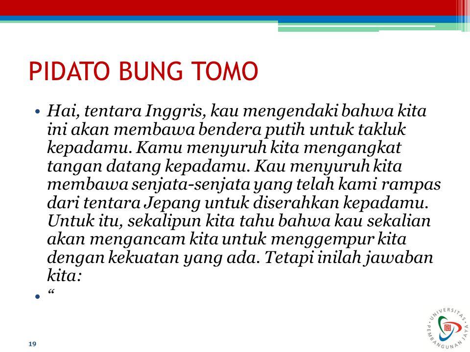 PIDATO BUNG TOMO