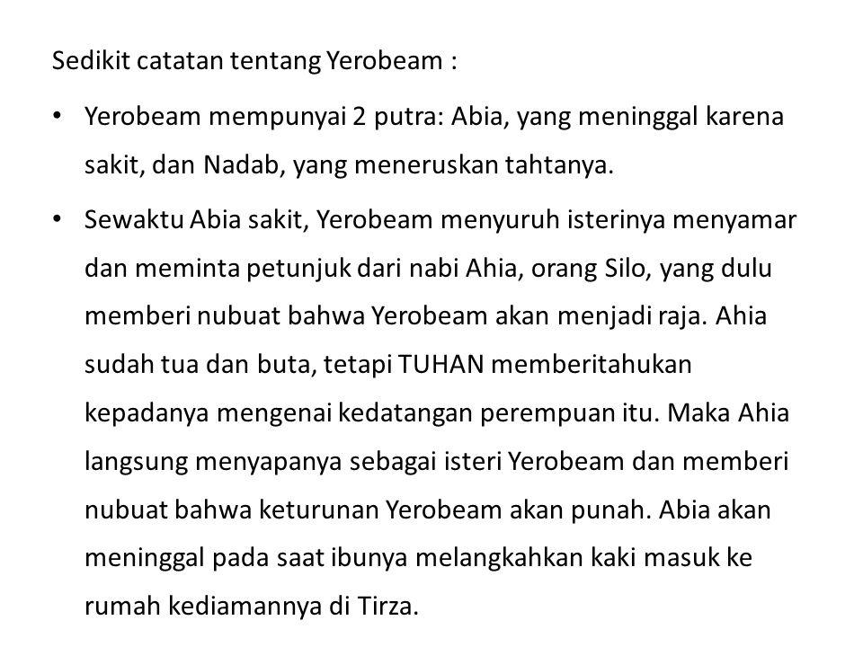 Sedikit catatan tentang Yerobeam :