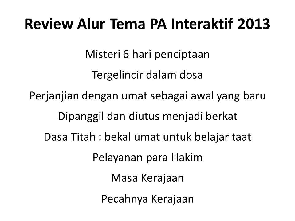 Review Alur Tema PA Interaktif 2013