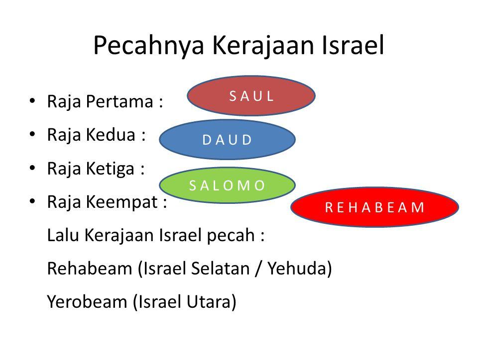 Pecahnya Kerajaan Israel
