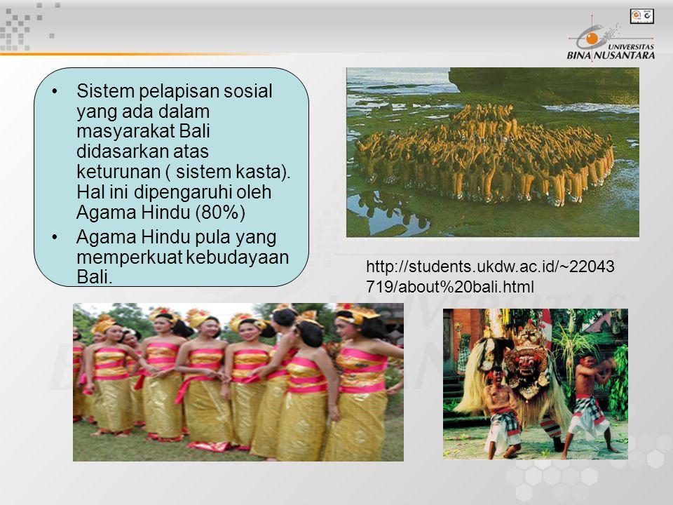 Agama Hindu pula yang memperkuat kebudayaan Bali.