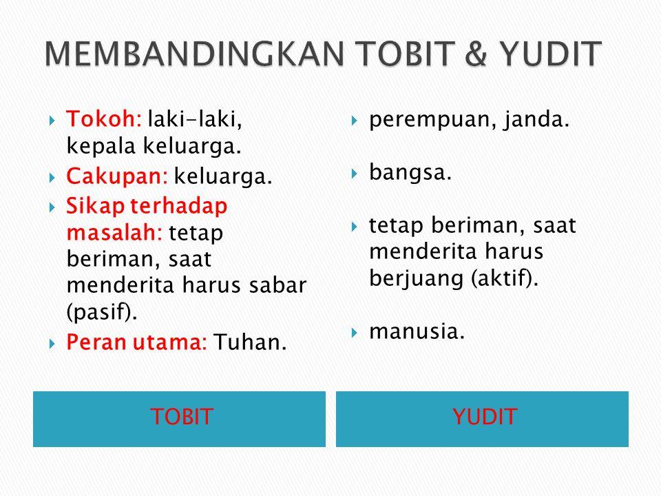 MEMBANDINGKAN TOBIT & YUDIT