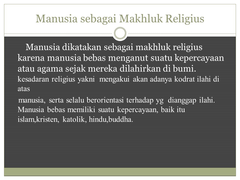 Manusia sebagai Makhluk Religius