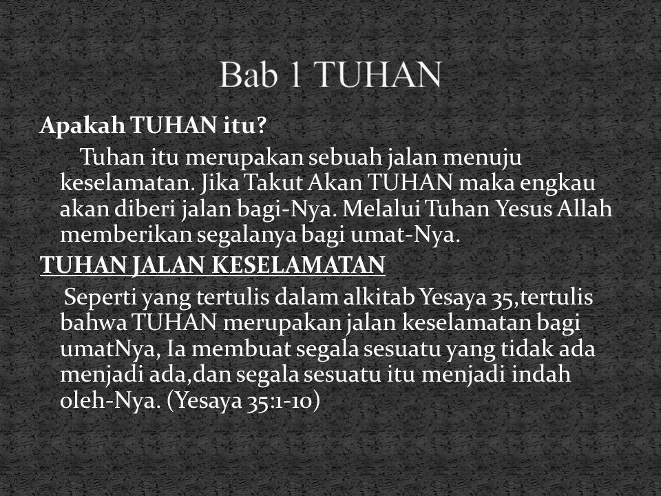 Bab 1 TUHAN