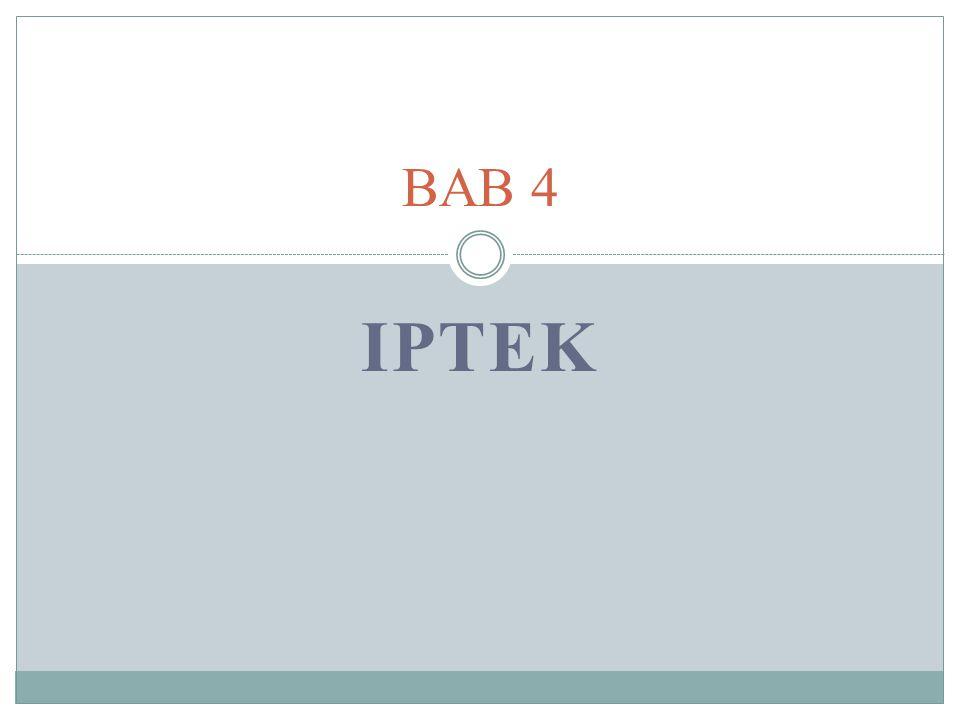 BAB 4 IPTEK