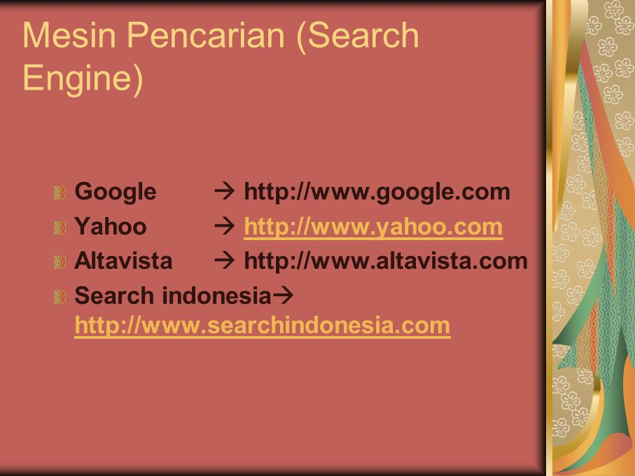 Mesin Pencarian (Search Engine)