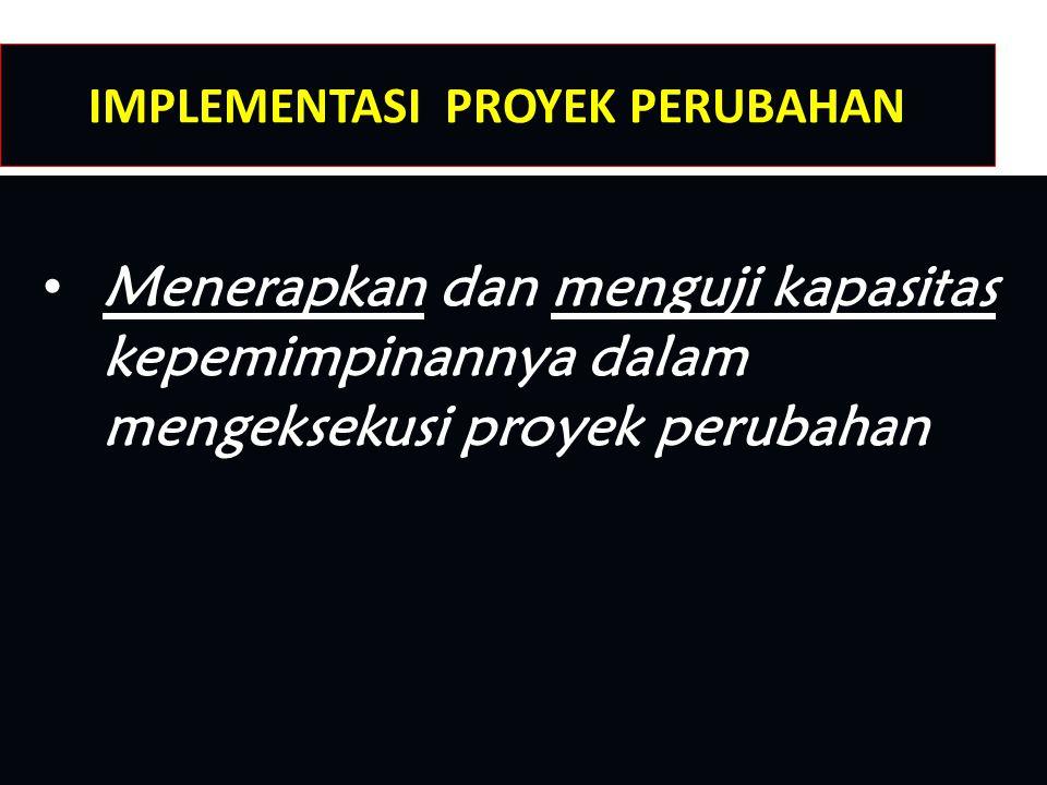 IMPLEMENTASI PROYEK PERUBAHAN