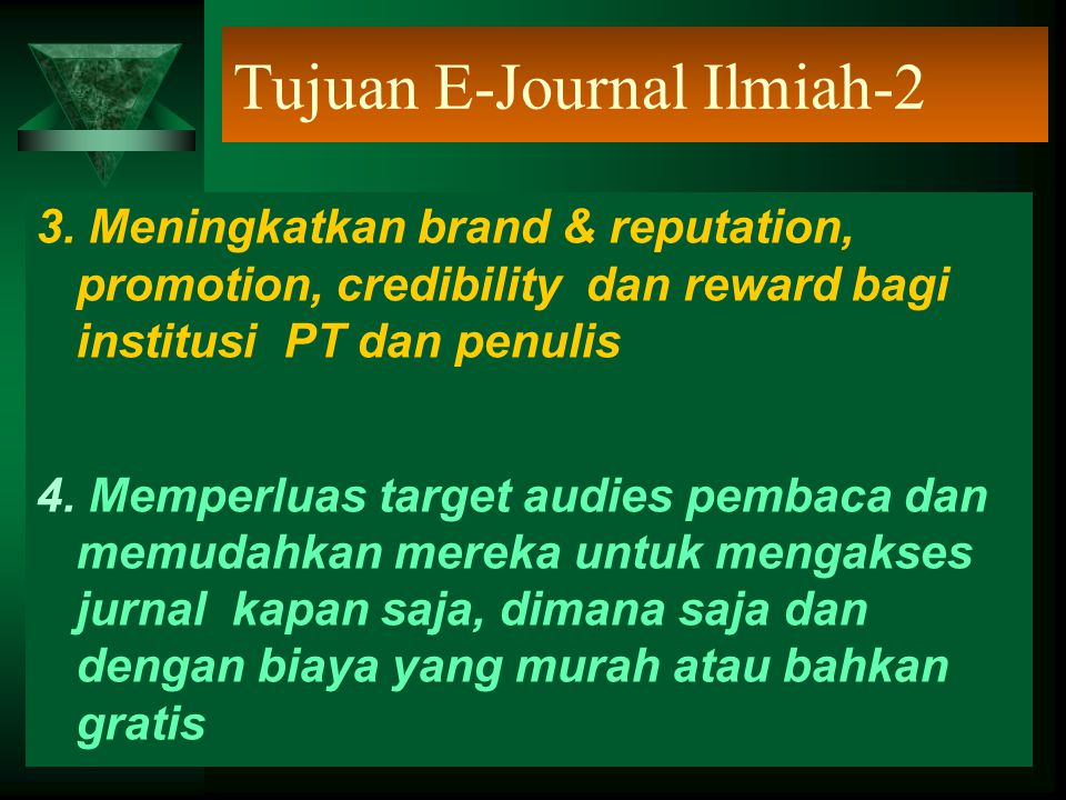 Tujuan E-Journal Ilmiah-2
