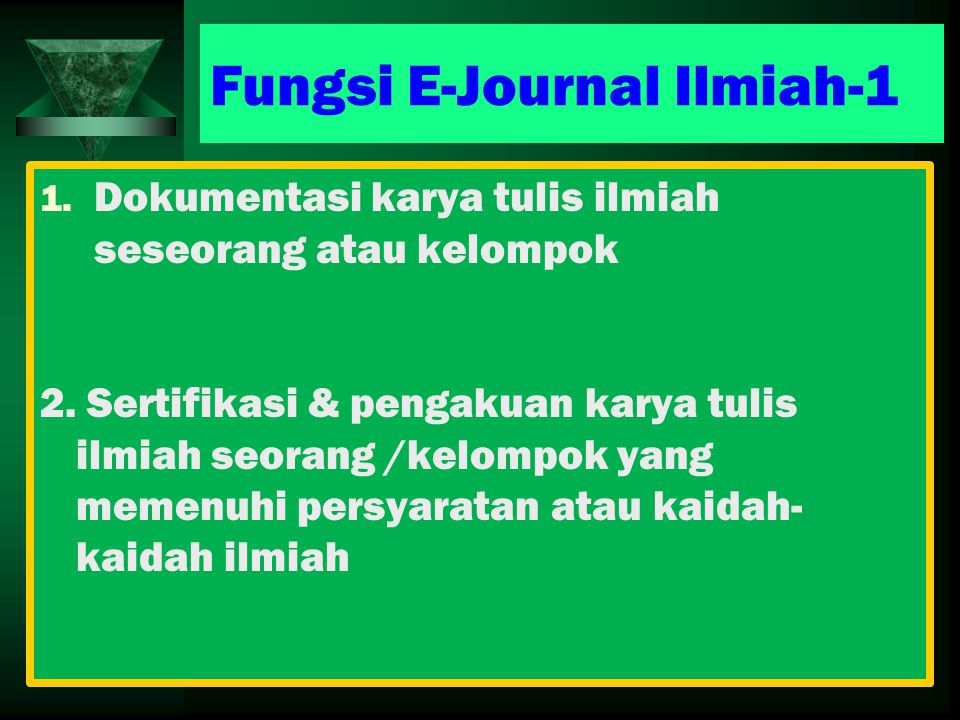 Fungsi E-Journal Ilmiah-1