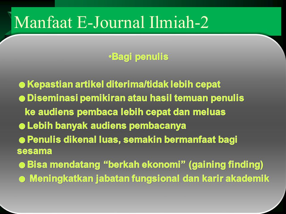 Manfaat E-Journal Ilmiah-2