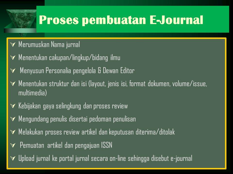 Proses pembuatan E-Journal