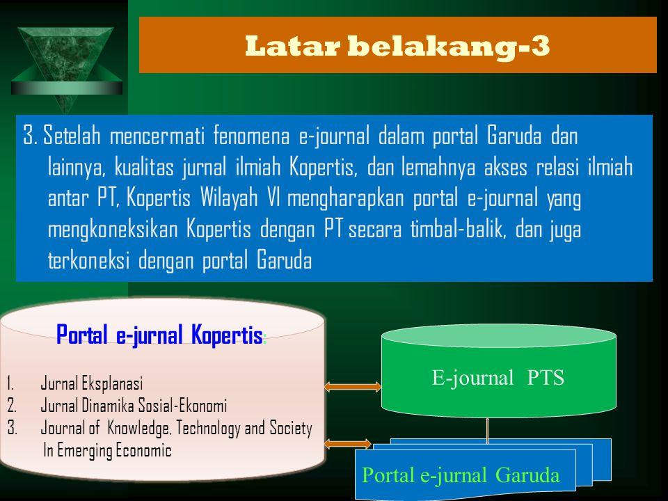 Portal e-jurnal Kopertis:
