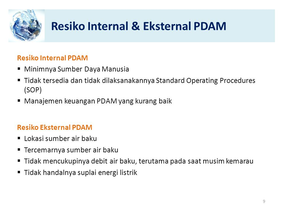 Resiko Internal & Eksternal PDAM