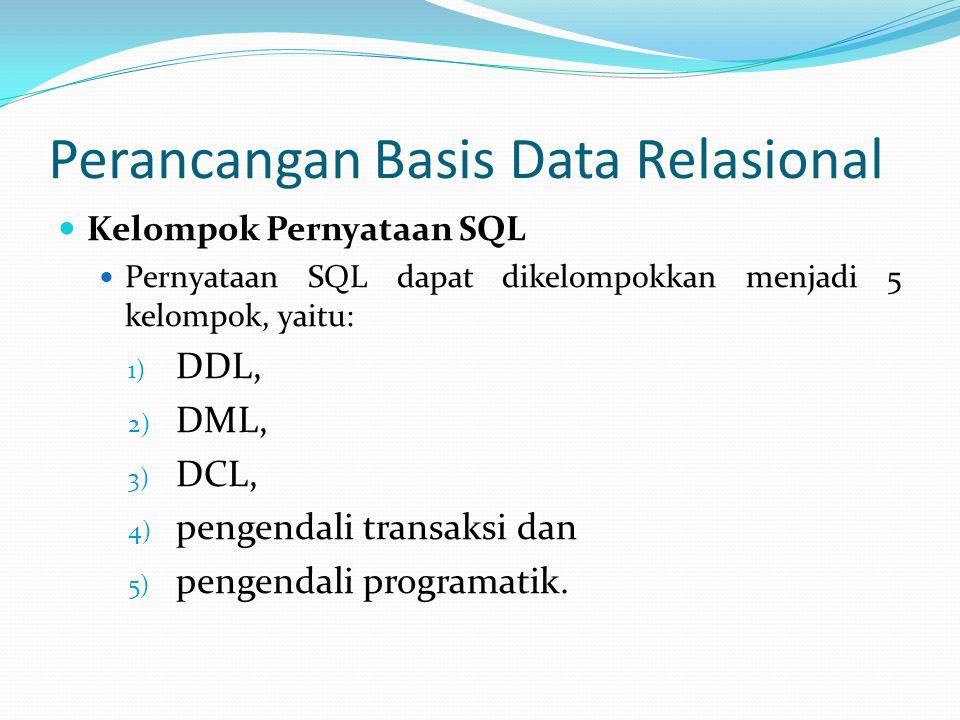 Perancangan Basis Data Relasional
