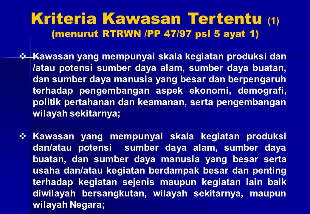 Kriteria Kawasan Tertentu (1)