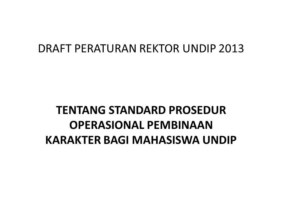 DRAFT PERATURAN REKTOR UNDIP 2013
