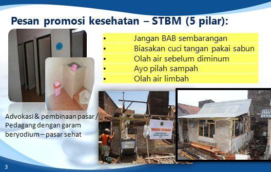 Pesan promosi kesehatan – STBM (5 pilar):