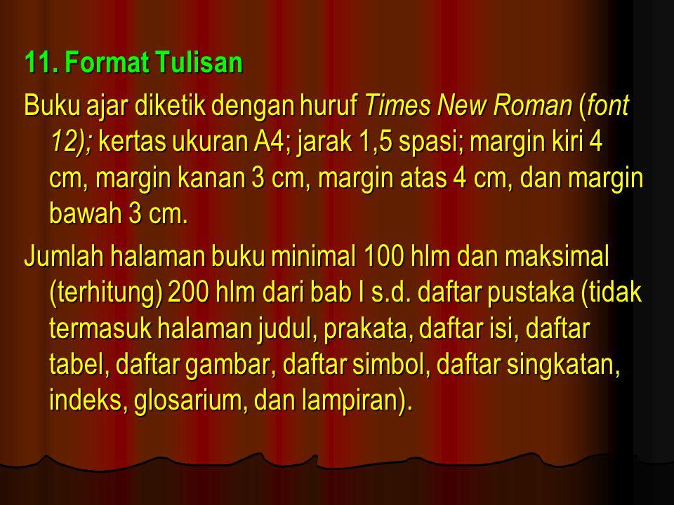 11. Format Tulisan