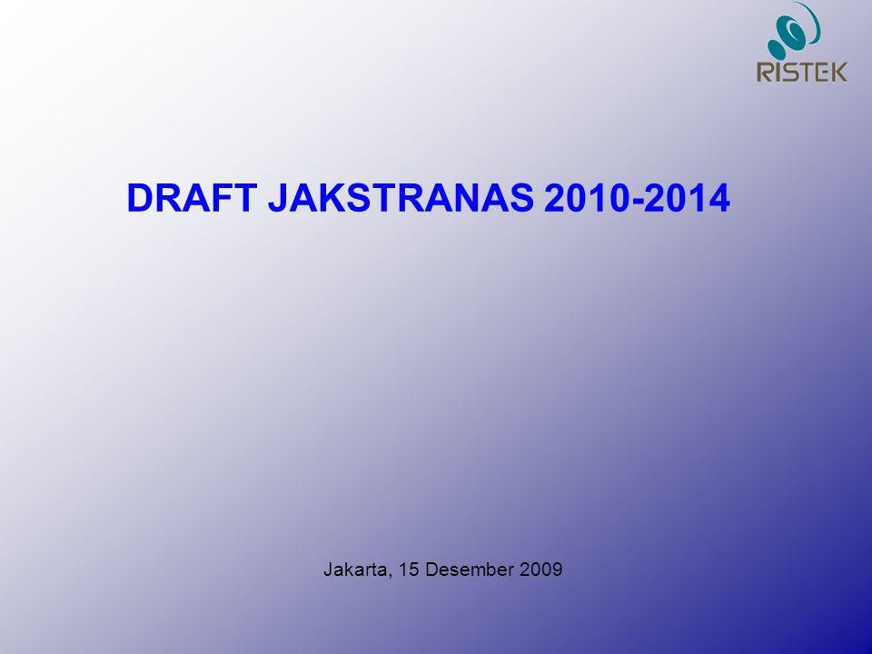 DRAFT JAKSTRANAS 2010-2014 Jakarta, 15 Desember 2009