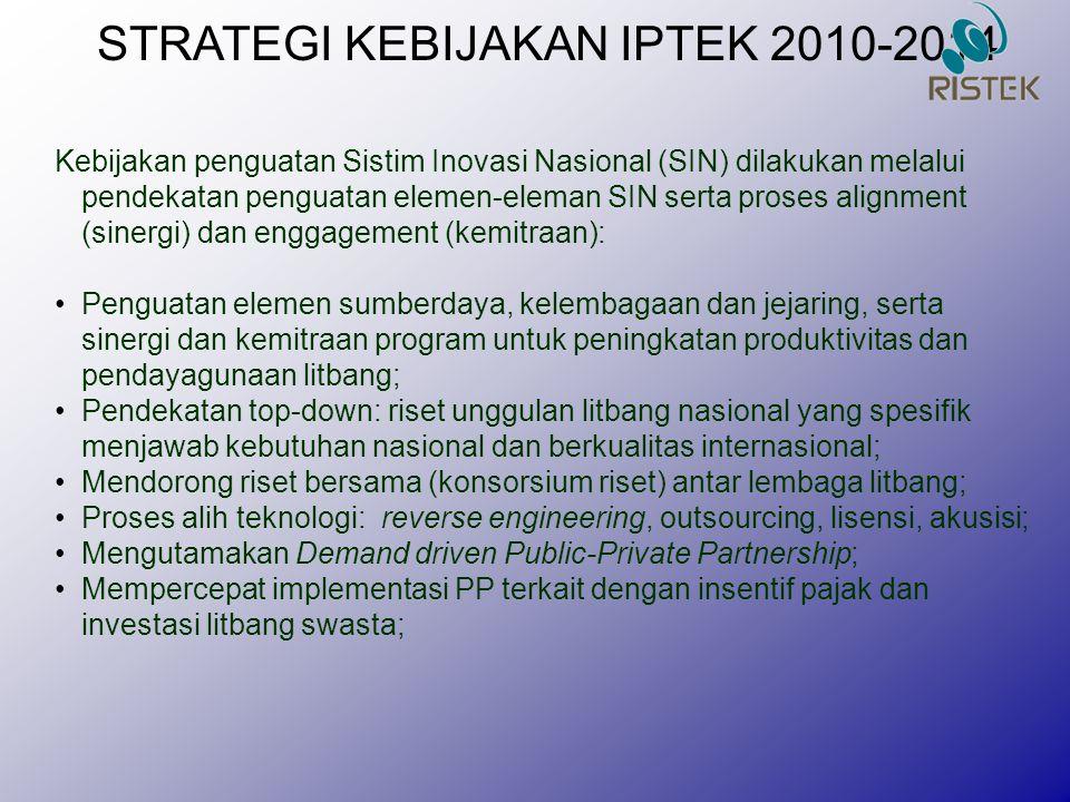 STRATEGI KEBIJAKAN IPTEK 2010-2014
