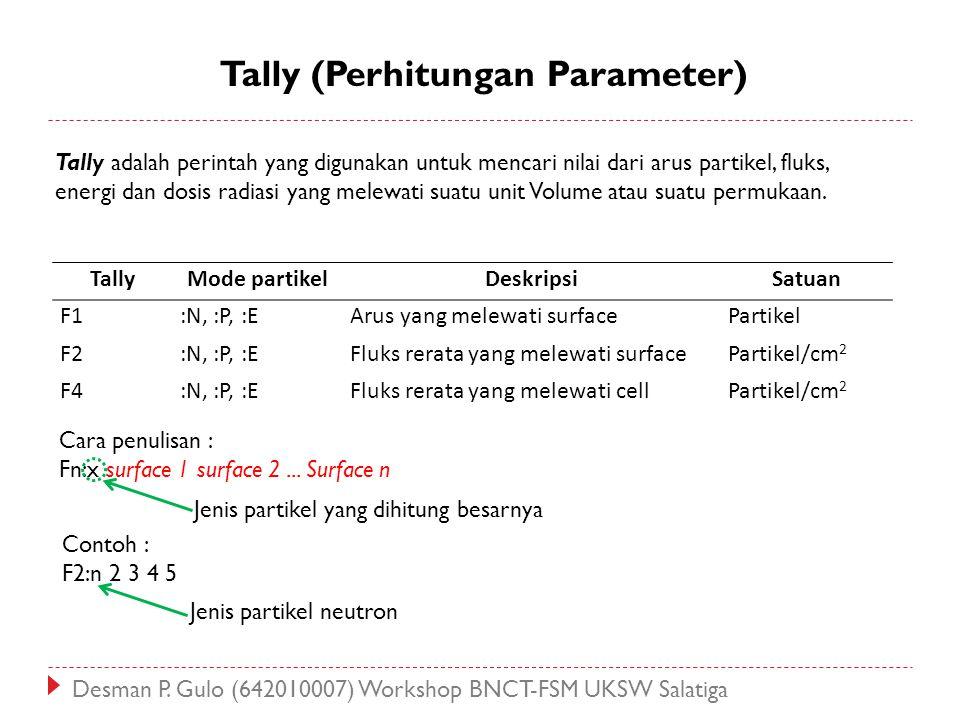 Tally (Perhitungan Parameter)