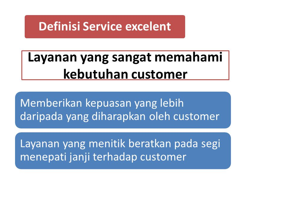 Definisi Service excelent